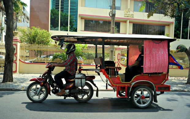 Their tuk-tuk is a longer version of our tricycle